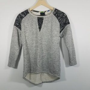 Anthropologie Dolan Lace Long Sleeve T_Shirt XS